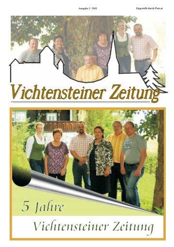 5 Jahre Vichtensteiner Zeitung - Gemeinde Vichtenstein