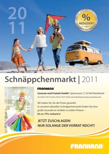 Schnäppchenmarkt | 2011 - Blättern Sie im Frankana-Freiko-Katalog ...