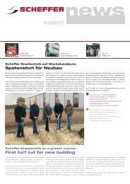 Spatenstich für Neubau First turf cut for new building - Scheffer ...