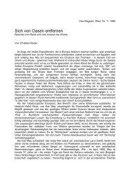 Sich von Oasen entfernen - Christian Reder
