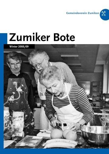 PDF – ZUBO-Broschuere – Winter 2008/2009 - Zumiker Bote