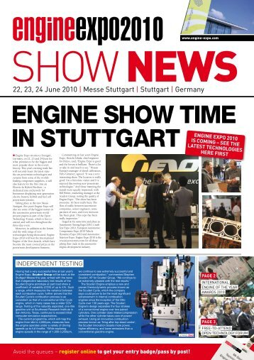 For all the latest information, visit our website - Engine-expo.com