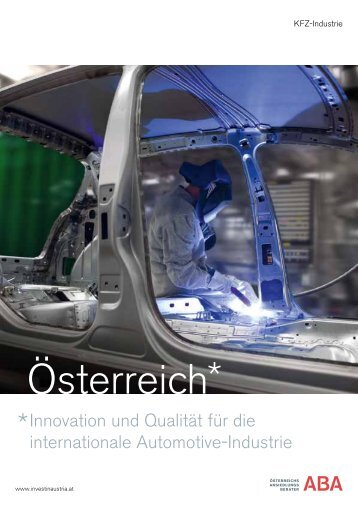 Automobilindustrie - ABA - Invest in Austria