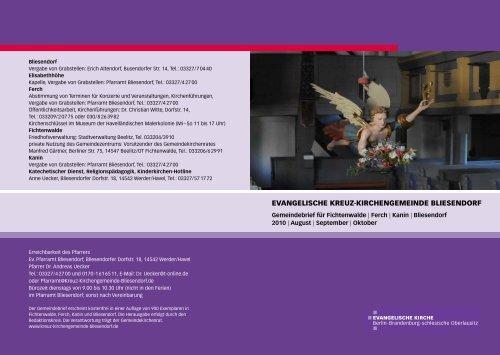 Gemeindebrief August/September/Oktober 2010 - Evangelische ...