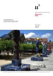 Neuere deutsche Literatur - Institut für Germanistik - Universität Bern