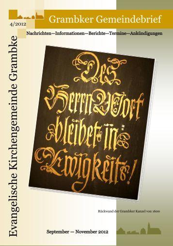 Gemeindebrief 4/12 - (September - November 2o12)