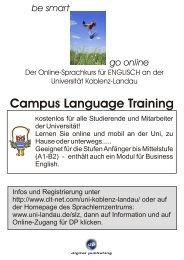 Campus Language Training - Universität Koblenz · Landau