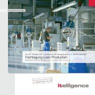 Fachtagung Lean Production - Itelligence AG