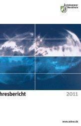 Jahresbericht 2011 - Ärztekammer Nordrhein