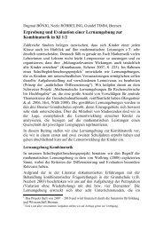 Erprobung und Evaluation einer Lernumgebung zur Kombinatorik in