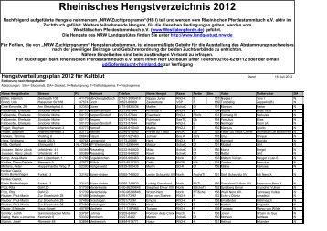 Rheinisches Hengstverzeichnis 2012