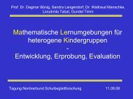 Mathematische Lernumgebungen für heterogene Kindergruppen ...