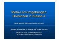 Meta-Lernumgebungen Divisionen in Klasse 4 - SINUS-Transfer ...