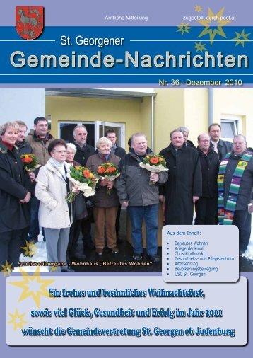 Gemeindezeitung Nr. 36 - Dezember 2010 - Gemeinde St. Georgen ...