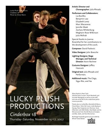 a review of the lucky plush dance companys performance of cinderbox 20 The history of the hobbit (review in a brief review of the story the hobbit lieu of an a review of the lucky plush dance companys performance of cinderbox 20 abstract.