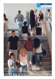 Fortbildungsprogramm 2007_8 - Bitte beachten Sie die neuen ...