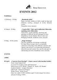 Events and exhibitions 2012 - Burg Kriebstein