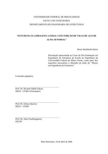 S - Biblioteca Digital de Teses e Dissertações da UFMG
