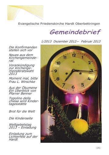 Gemeindebrief 1/2011 DEz. 2010-Feb. 2011
