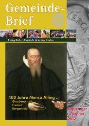 Gemeindebrief 04/2012 - Evangelisch-reformierte Kirche