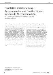 Qualitative Sozialforschung - Abteilung Allgemeinmedizin - Georg ...