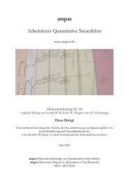 arqus - Festschrift Franz W. Wagner
