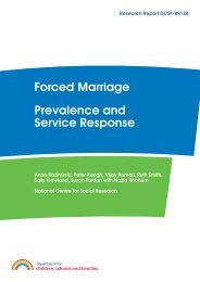 Forced Marriage - Prevalence and Service Response