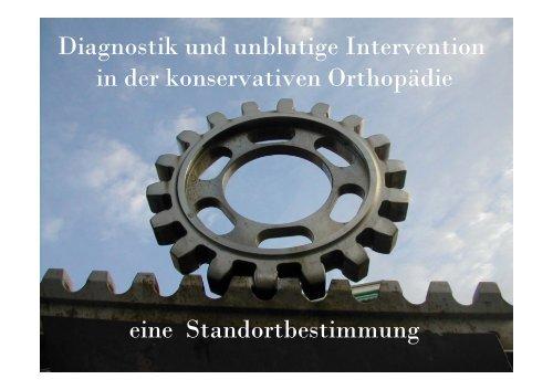 Diagnostik und unblutige Intervention in der konservativen ...