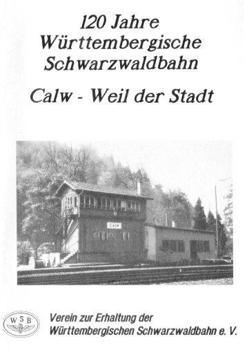 120 Jahre Württembergische Schwarzwaldbahn