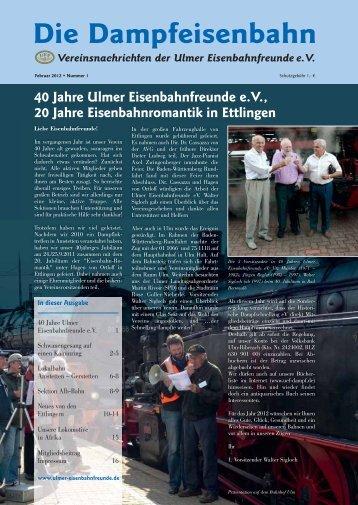 Lokalbahn Amstetten – Gerstetten - Die Ulmer Eisenbahnfreunde