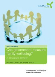 Can government measure family wellbeing? - Family and Parenting ...