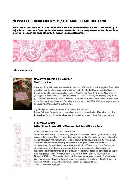 NEWSLETTER NOVEMBER 2011 / THE AARHUS ART BUILDING ...