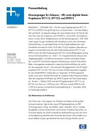 HPs erste digitale Home- Projektoren EP7112, EP7122 ... - HCinema
