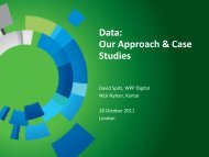 Data: Our Approach & Case Studies - WPP