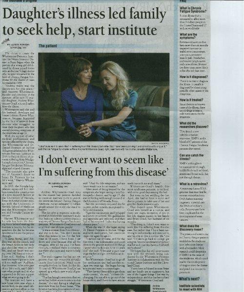 Reno Gazette-Journal - Whittemore Peterson Institute for Neuro ...