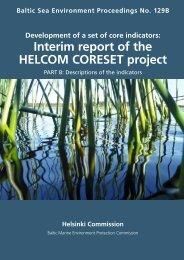 Interim report of the HELCOM CORESET project