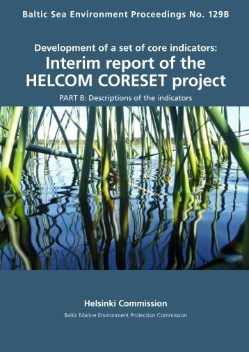 Interim report of the HELCOM CORESET project