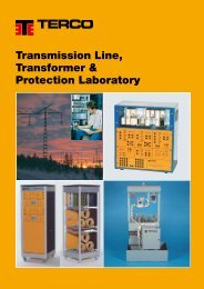 Transmission Line, Transformer & Protection Laboratory - Terco