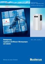 Katalogauszug Logatherm Luft/Wasser-Wärmepumpen ... - Buderus