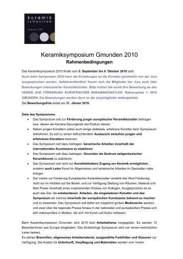 Rahmenbedingungen - Gmunden