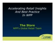 The Store - Accelerating Retail Insights And Best Practice In WPP