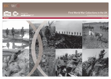 First World War Collections in the UK - JISC World War One ...