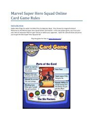 Marvel Super Hero Squad Online Card Game Rules