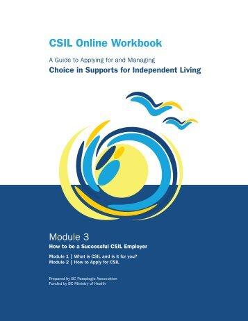 CSIL Online Workbook