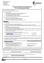 Temporary Work Permit Application For A Confinement Nanny