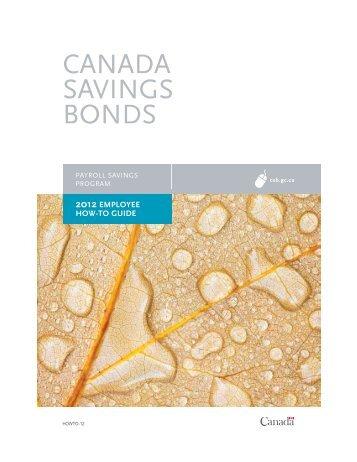 Employee How-To Guide 2012 - Canada Savings Bonds