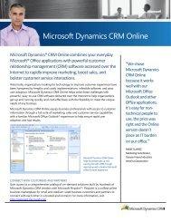 Microsoft Dynamics CRM Online - Microsoft Partner Network