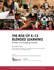 THE RISE OF K–12 BLENDED LEARNING - Innosight Institute