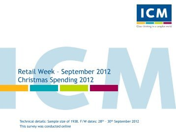 Retail Week Poll- Christmas 2012 - ICM Research