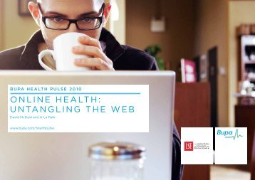 online heAlTh: UnTAnGlinG The WeB